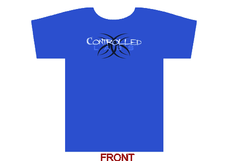 controlled labs tshirt blue front on transparent background