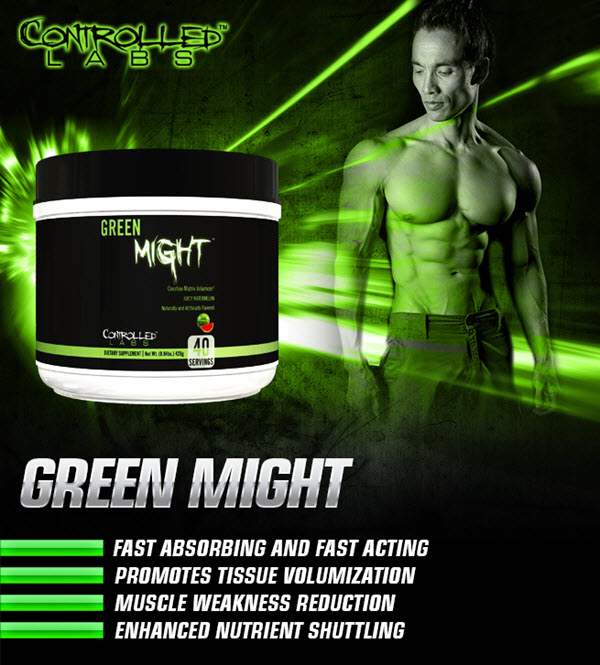 Green Might: Creatine Matrix Volumizer | Controlled Labs
